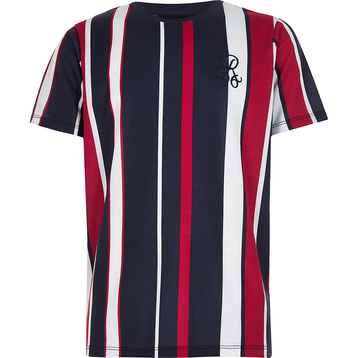 Boys navy stripe 'R96' T-shirt