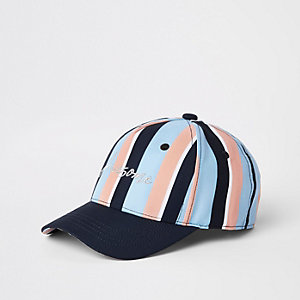 Boys blue pastel stripe cap