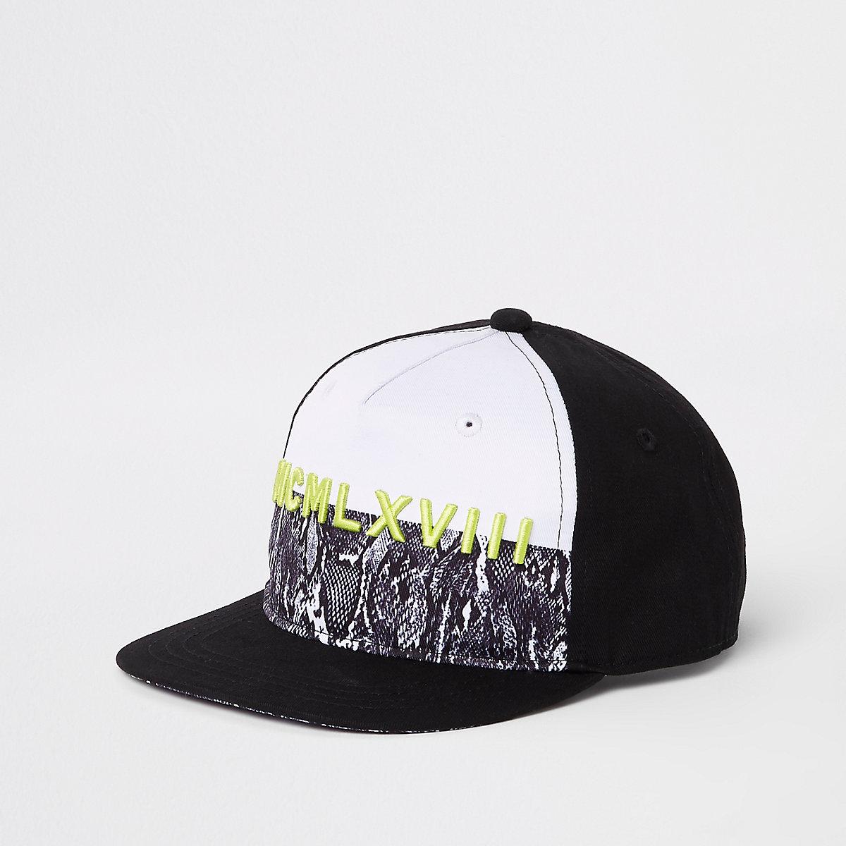 Boys ombre neon flat peak cap