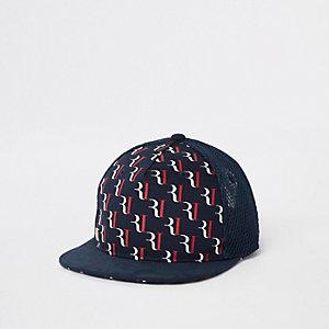 Marineblaue Kappe mit RI-Print