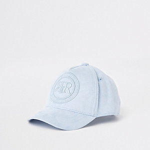 Mini boys blue RI crest baseball cap