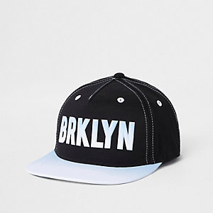 Mini boys black 'Brkyln' snapback cap