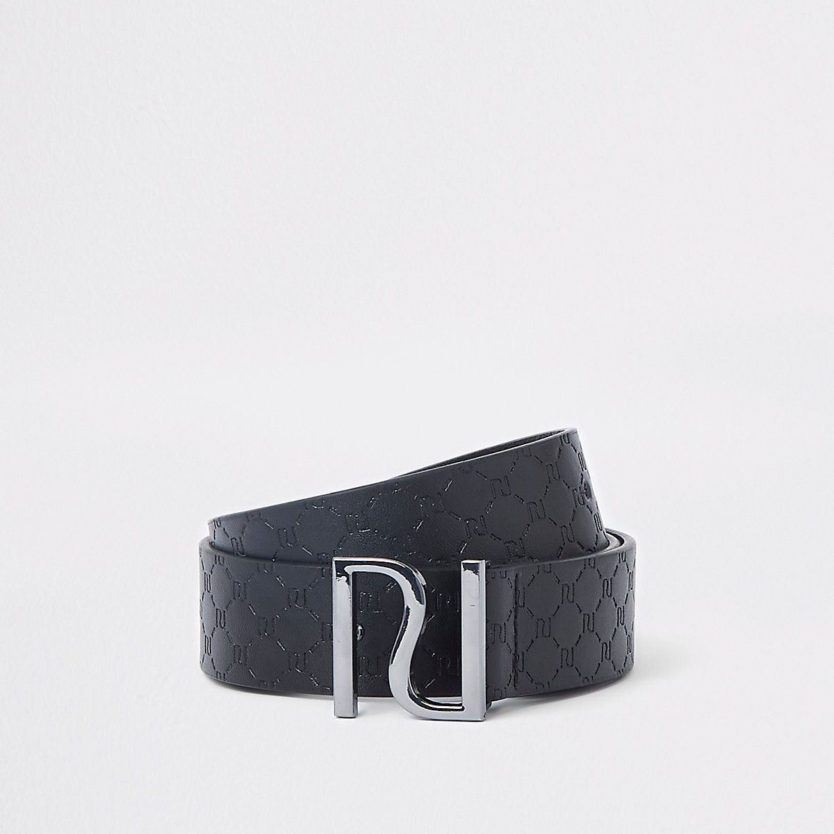 Boys black RI embossed buckle belt