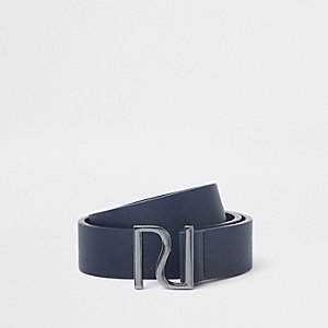 Marineblauwe riem met RI-logo en gesp voor jongens