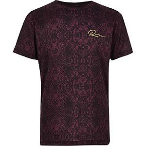 T-shirt à imprimé serpent bordeaux pour garçon