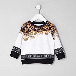 Mini - Wit sweatshirt met barokke print voor jongens