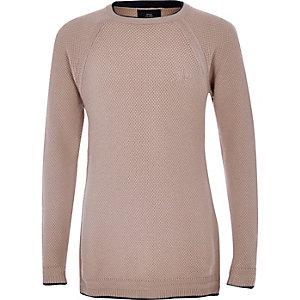 Boys pink RI knit jumper