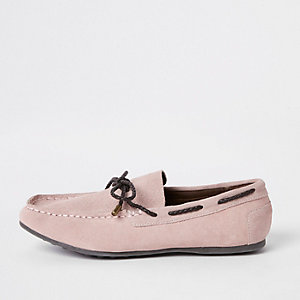 Boys pink driver shoes