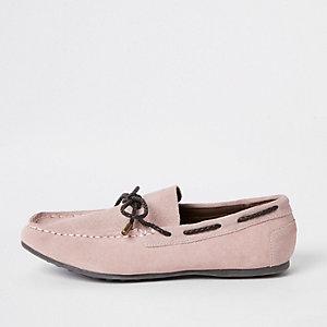Roze mocassins voor jongens