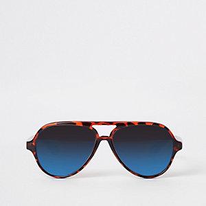 Mini boys brown tortoise aviator sunglasses