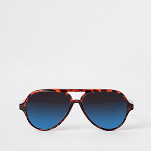 Mini boys brown tortoise aviator sunglasses