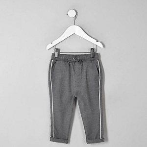Mini boys grey piped trousers