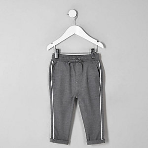 Mini - Grijze broek met bies voor jongens