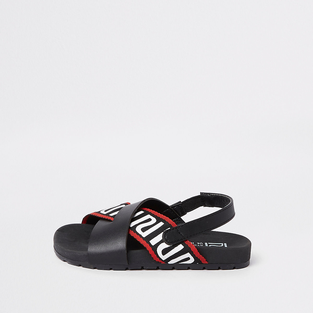 Mini boys black cross RI sliders