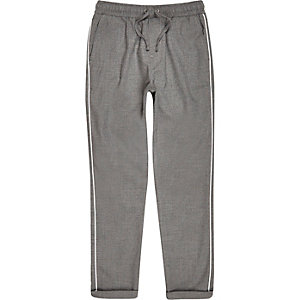 Boys grey piped pants
