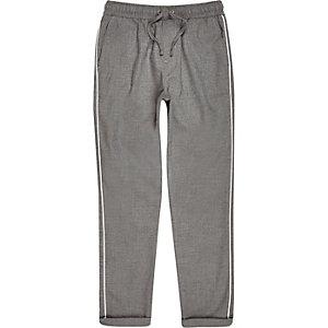 Pantalon gris passepoilé pour garçon