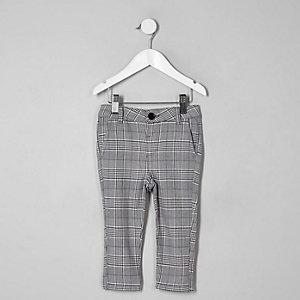Mini - Grijs geruite skinny broek voor jongens
