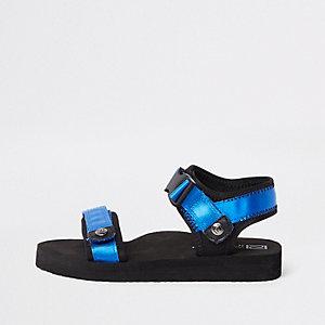 Sandales bleues à Velcro pour garçon
