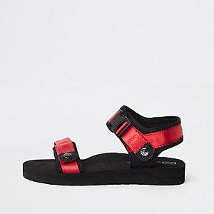 Rode sandalen met klittenband voor jongens