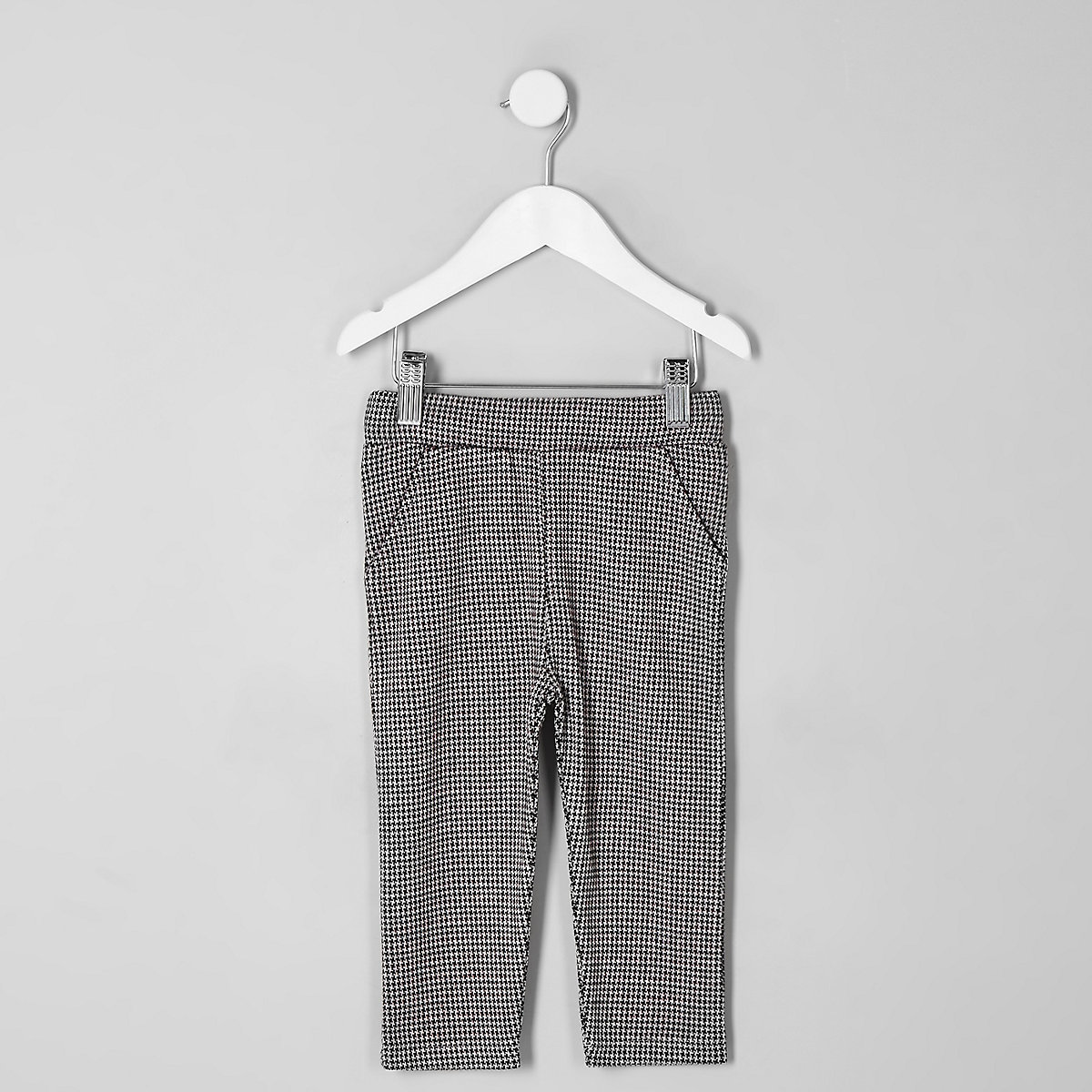 Mini boys red puppytooth trousers