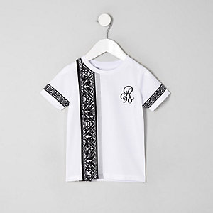 Mini boys white baroque 'R96' T-shirt