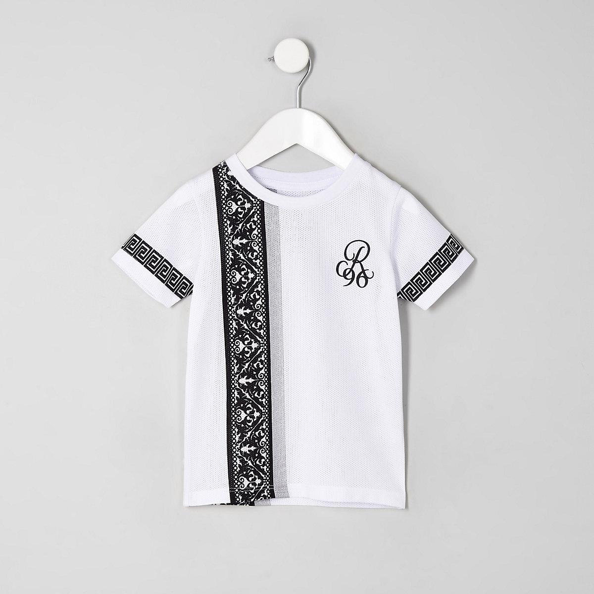 Mini boys white baroque 'R96' T-shirt