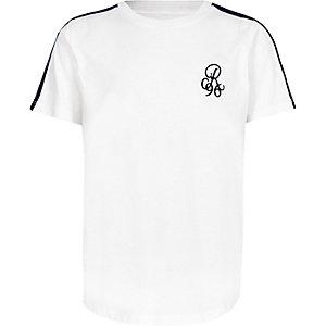 T-shirt «R96» blanc à manches avec bandes pour garçon