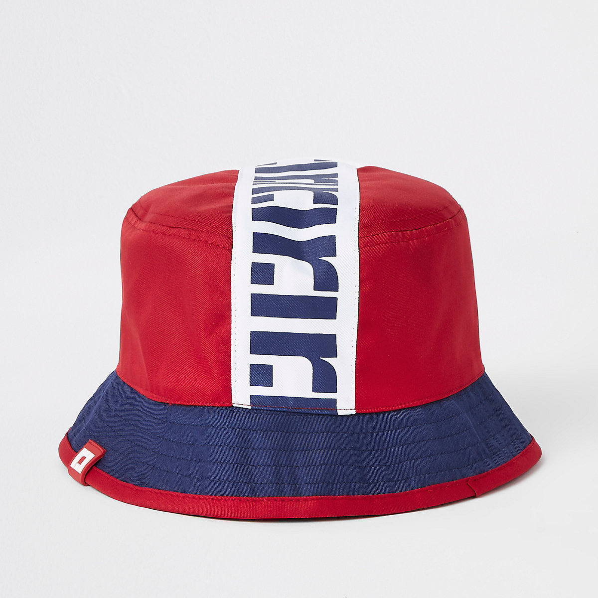 Boys red RI reversible bucket hat