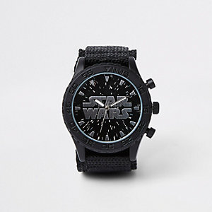 Boys black Starwars watch