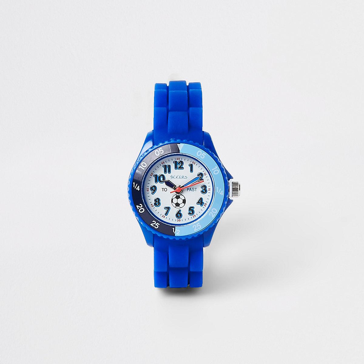 Blaue, sportliche Armbanduhr mit Gummiarmband
