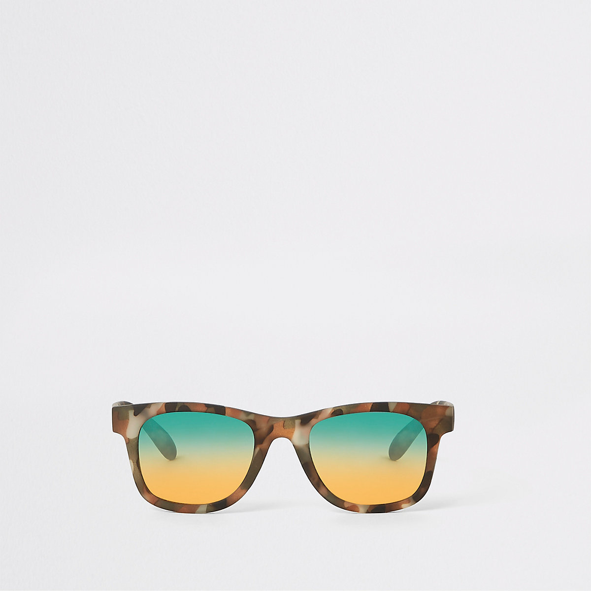 Mini boys khaki camo retro sunglasses