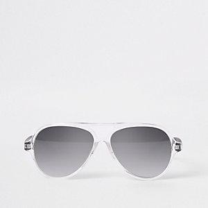 Zilverkleurige pilotenzonnebril voor mini boys