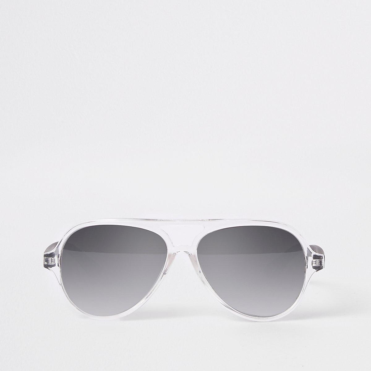 Mini boys silver aviator sunglasses
