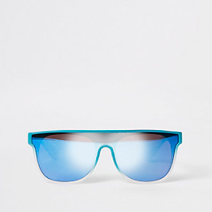 Mini boys blue visor sunglasses