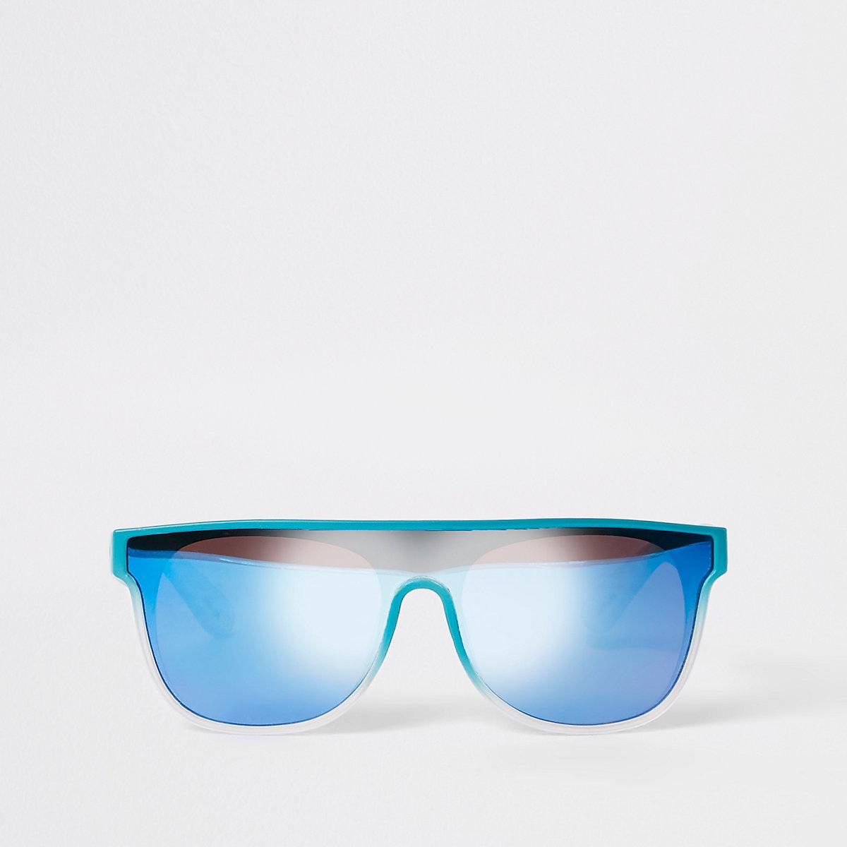 Mini boys blue visor sunglasses