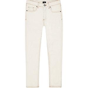 Sid - Crème skinny jeans voor jongens