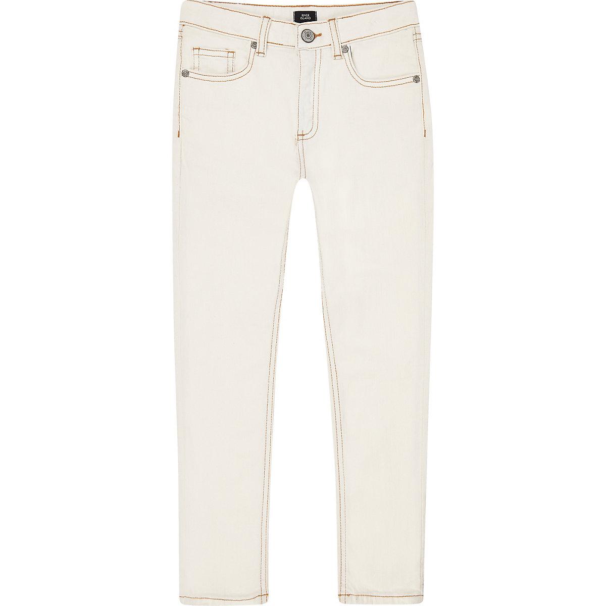 Boys cream Sid skinny jeans