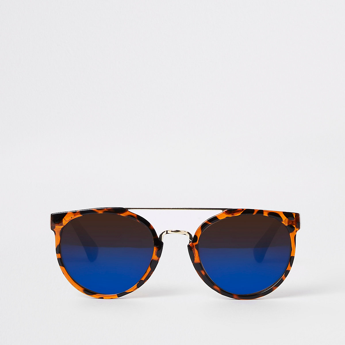 Boys brown tortoise shell retro sunglasses