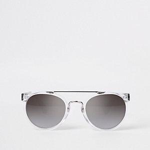 Zilverkleurige retro zonnebril voor jongens
