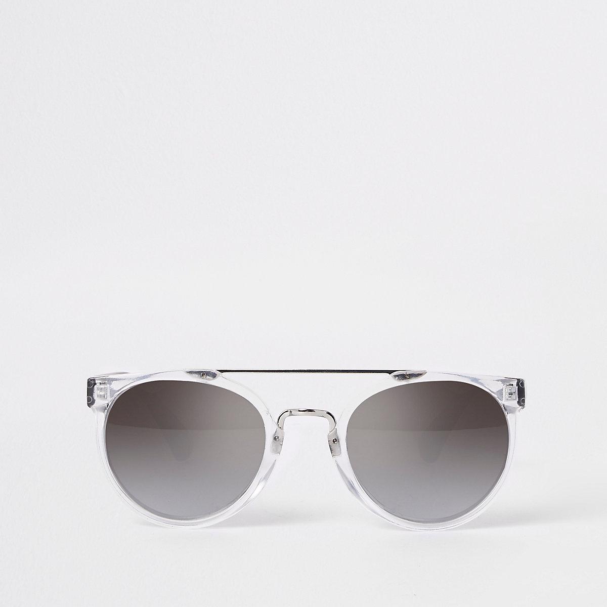 Boys silver retro sunglasses