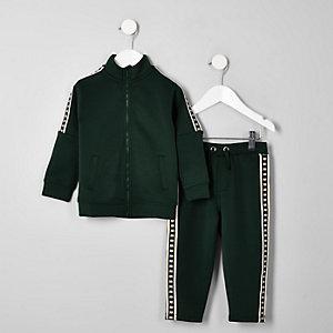 Mini boys khaki RI tape track outfit