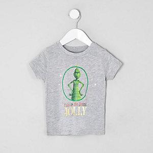 Mini - Grijs T-shirt met Grinch-print voor jongens