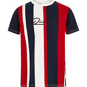 Marineblaues T-Shirt mit vertikalen Streifen