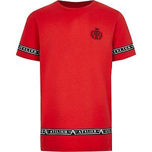 Rood T-shirt met RI-bies opzij voor jongens