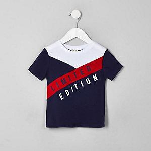 Mini boys navy 'Limited edition' T-shirt