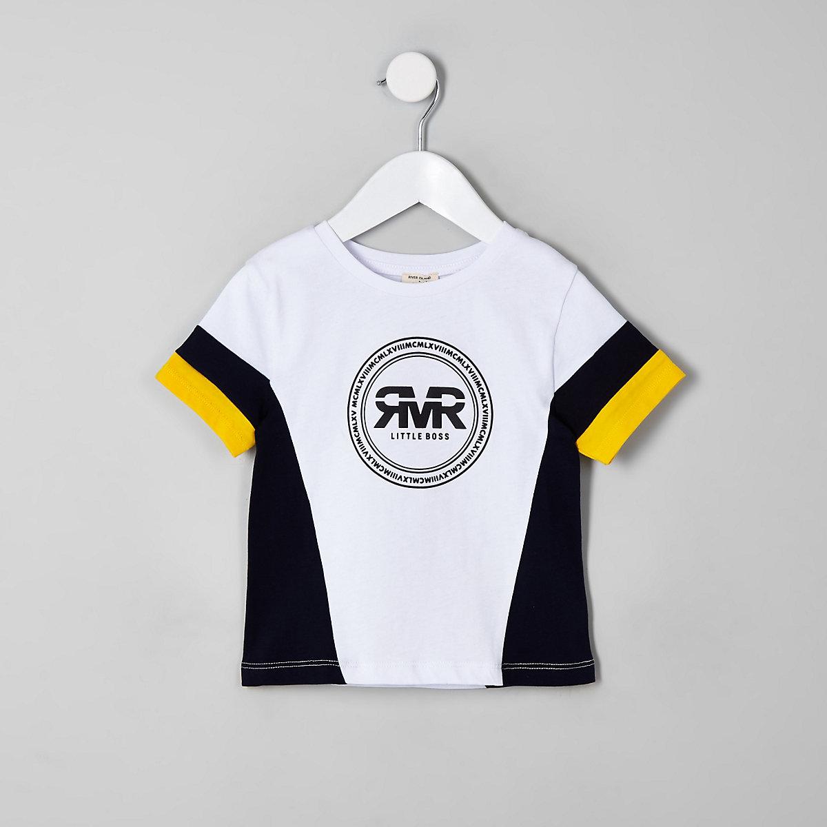 Mini boys yellow RI block T-shirt