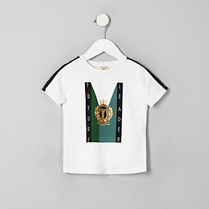 Mini - Wit 'Future leader' T-shirt voor jongens