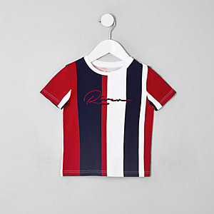 T-shirt RI à rayures verticales mini garçon