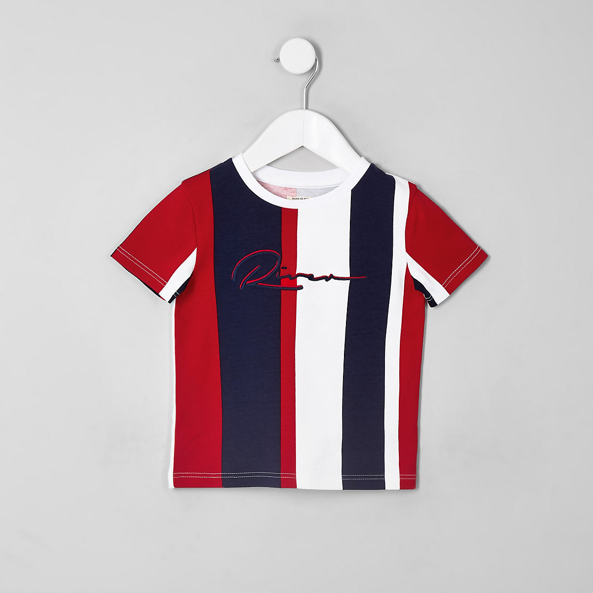 Mini boys RI vertical stripe T-shirt