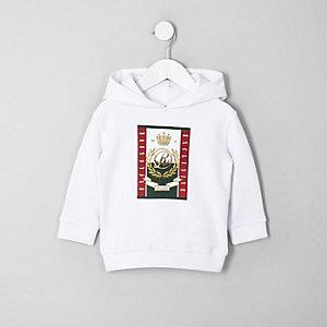 Mini - Witte hoodie met RI-logo voor jongens